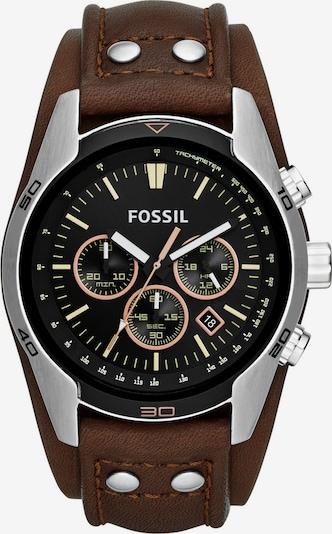 FOSSIL Uhr 'COACHMAN CH2891' in braun / silber, Produktansicht