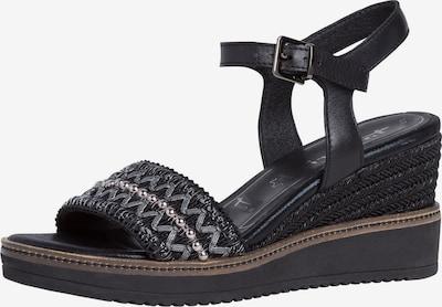 TAMARIS Sandalette in silbergrau / schwarz, Produktansicht
