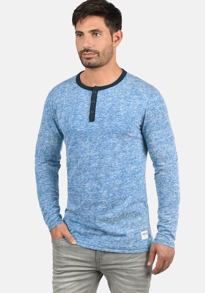 !Solid Rundhalsshirt 'Telias' in blau: Frontalansicht