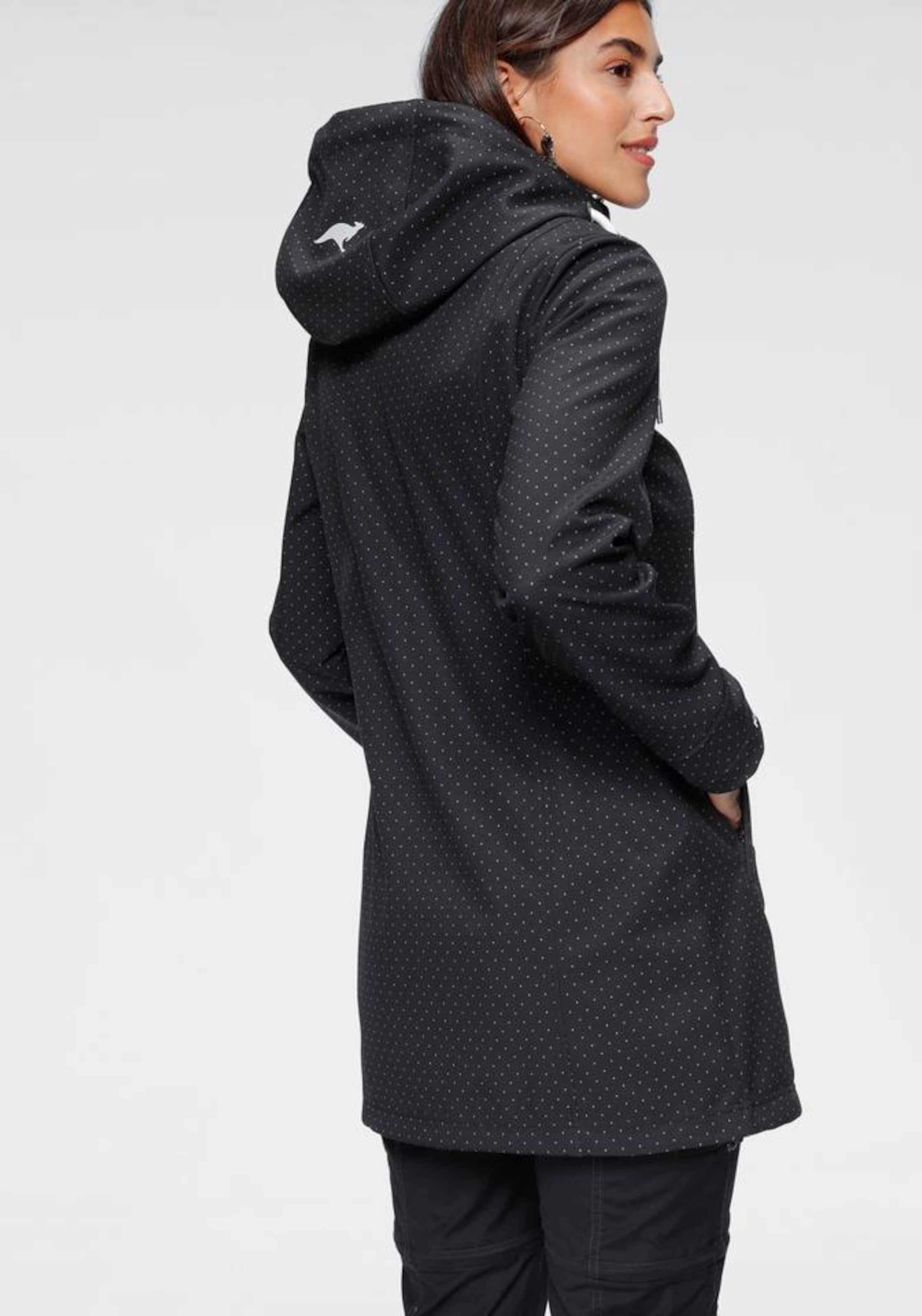 KangaROOS Outdoorjacke in schwarz / weiß