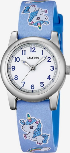 CALYPSO WATCHES Quarzuhr 'Junior Collection' in hellblau / silber / weiß: Frontalansicht