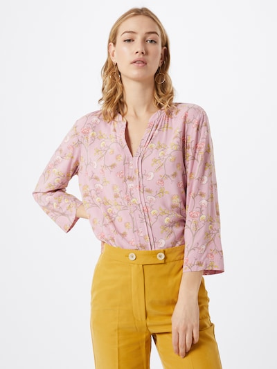s.Oliver BLACK LABEL Bluse in gelb / rosa / weiß, Modelansicht
