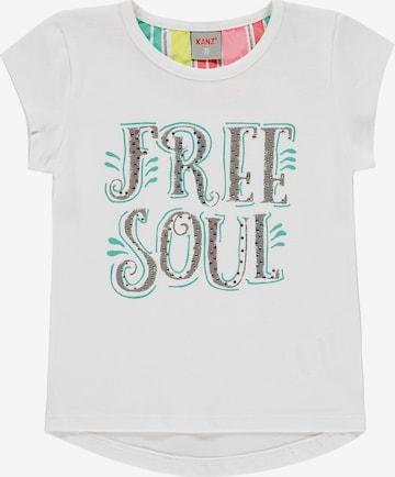 KANZ T-Shirt 'Free Soul' in Weiß