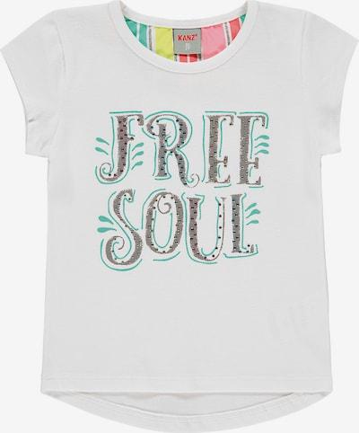 KANZ T-Shirt in graumeliert / jade / weiß, Produktansicht