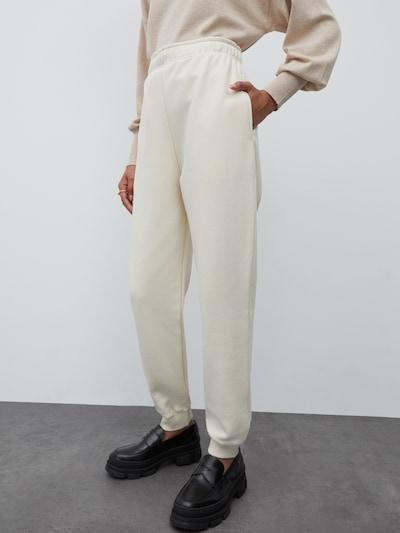 EDITED Nohavice 'Riley' - biela melírovaná, Model/-ka