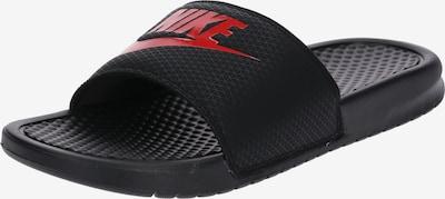 Nike Sportswear Nizki natikači 'Benassi Just Do It' | rdeča / črna barva, Prikaz izdelka