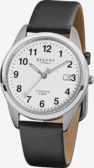 REGENT Uhr in schwarz / silber, Produktansicht