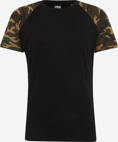 Urban Classics Shirt in de kleur Lichtbruin / Groen / Kaki / Zwart, Productweergave