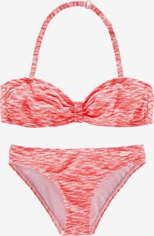 VENICE BEACH Bandeau-Bikini in Orange