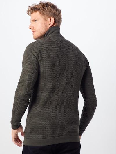 !Solid Strickjacke 'Shad' in dunkelgrau: Rückansicht