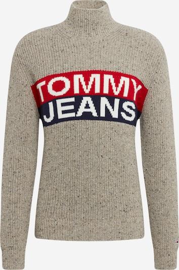 Tommy Jeans Pullover in blau / rauchgrau / rot, Produktansicht