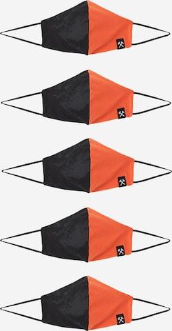 Grubenhelden Näomask 'Colourblock', värv oranž