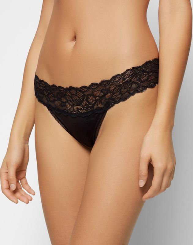 Underwear Calvin En String Klein Noir 'thong' 8w0kOPZnNX