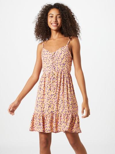 Trendyol Letní šaty - tmavě hnědá / žlutá / pink, Model/ka