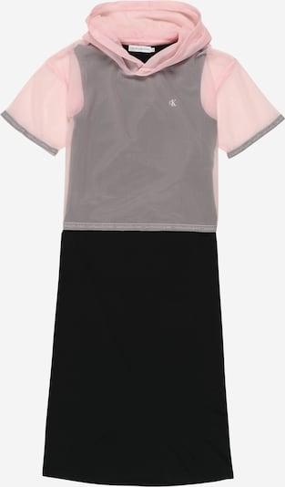 Calvin Klein Jeans Kleita '2 IN 1 MESH LAYER DRESS' pieejami vecrozā / melns, Preces skats