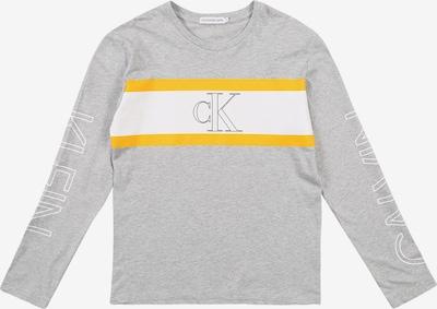 Calvin Klein Jeans T-Shirt 'LOGO COLOUR BLOCK LS' en gris chiné, Vue avec produit