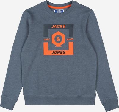 Bluză de molton Jack & Jones Junior pe albastru porumbel / portocaliu, Vizualizare produs