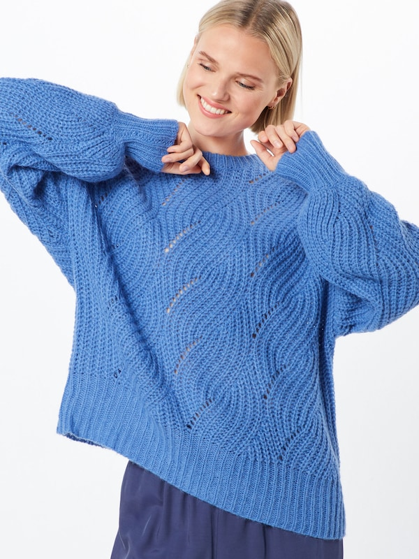 Native Youth Pullover  'THE ADELE WOOL KNIT' in blau: Frontalansicht
