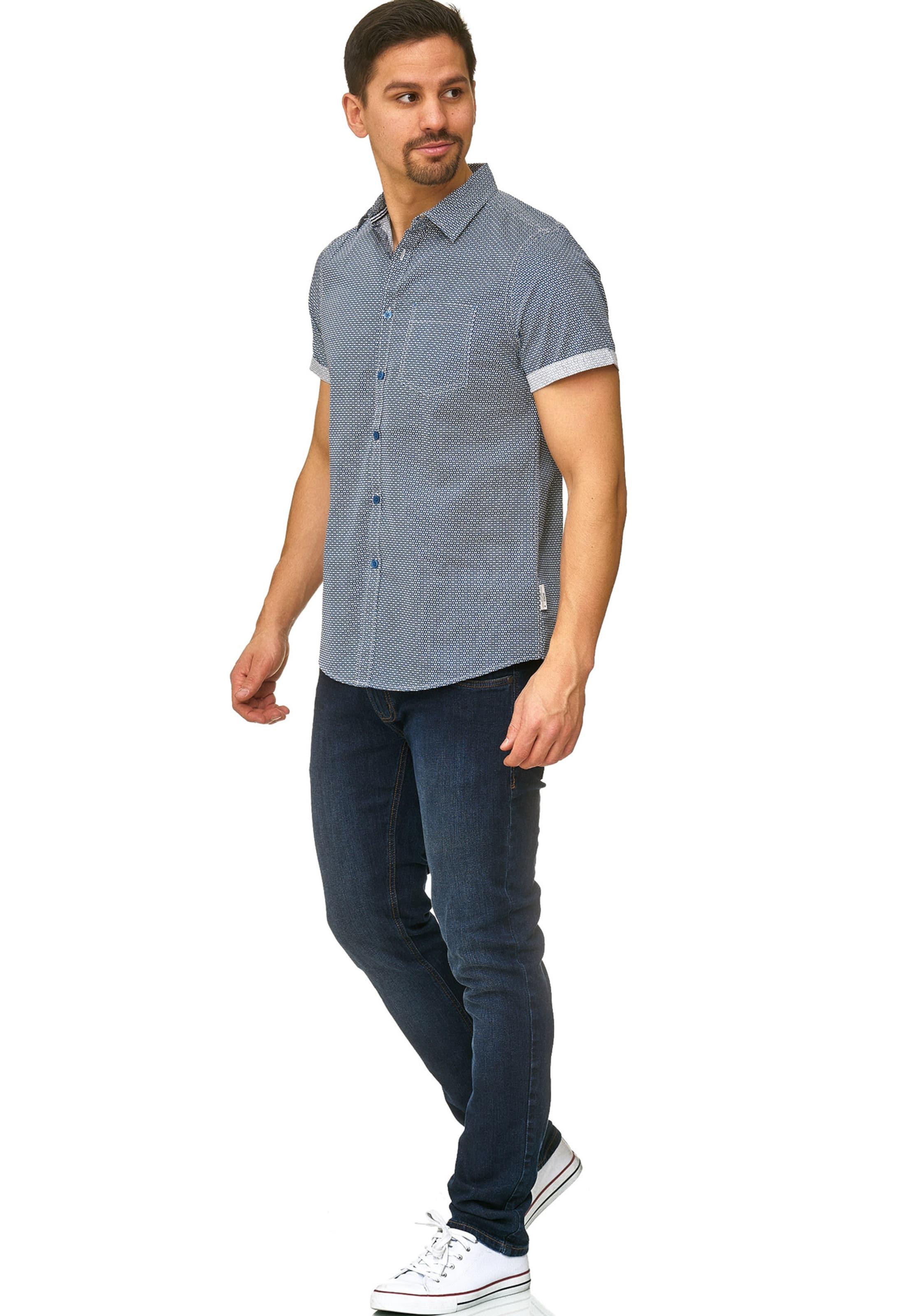 Jeans Hemd In BlauWeiß Indicode 'christchurch' n0kXO8wP
