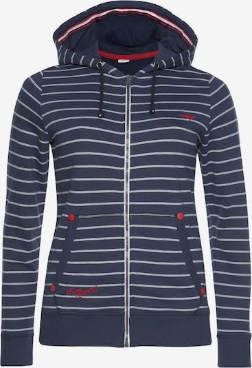 KangaROOS Sweatjacke in marine / rot / weiß, Produktansicht