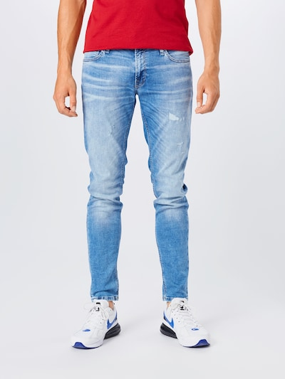 JACK & JONES Jeans 'Liam' in blue denim, Modelansicht