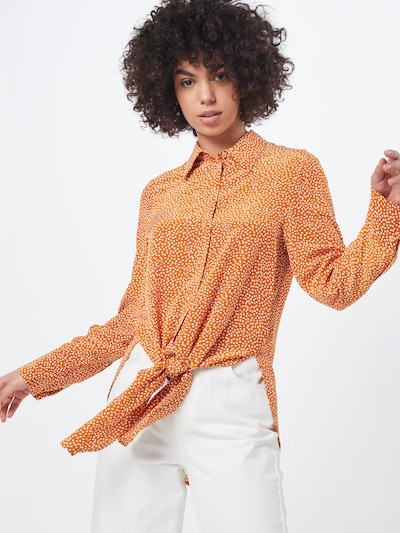 CINQUE Bluse 'CITUNA' in orange / weiß, Modelansicht