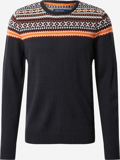 BLEND Pullover in nachtblau / hellorange / bordeaux / offwhite, Produktansicht