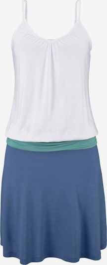 BEACH TIME Strandkleid in türkis / royalblau / weiß, Produktansicht