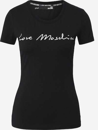 Love Moschino T-Shirt in schwarz / weiß, Produktansicht