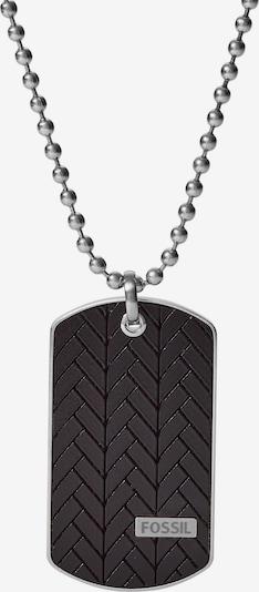FOSSIL Kette in schwarz / silber, Produktansicht