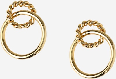 Orelia Ohrringe 'Rope & Hoop Interlocking' in gold, Produktansicht