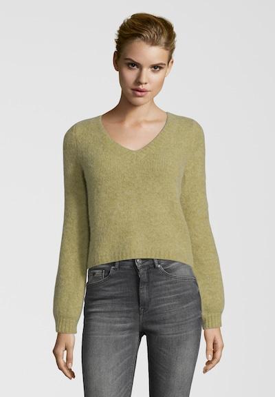 PRINCESS GOES HOLLYWOOD Pullover im Cropped Style in grün / oliv, Modelansicht