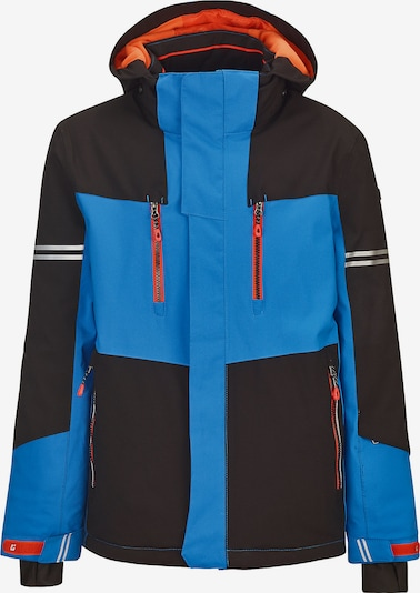 KILLTEC Skijacke 'Yurik' in blau / rot / schwarz, Produktansicht