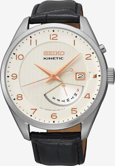 SEIKO Uhr 'Kinetic' in hellbeige / schwarz / silber, Produktansicht