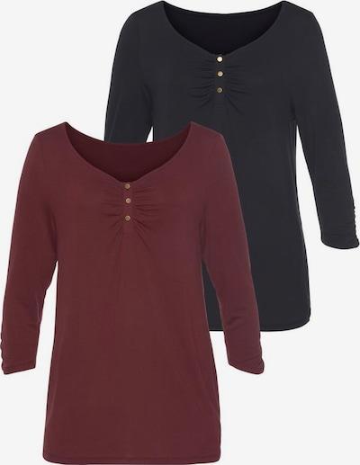 VIVANCE Shirt in rot / schwarz, Produktansicht