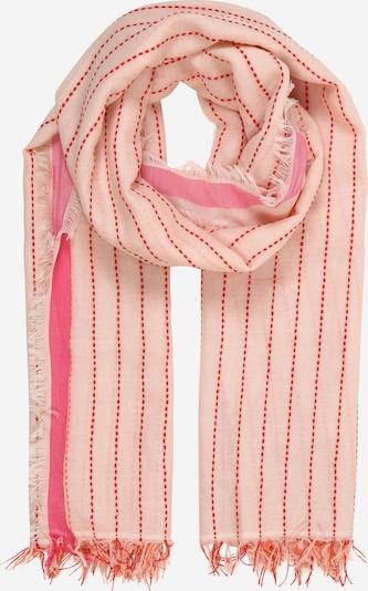 Zwillingsherz Schal in orange / rosa, Produktansicht