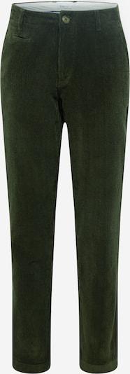 Pantaloni eleganți 'Chuck' KnowledgeCotton Apparel pe verde închis, Vizualizare produs
