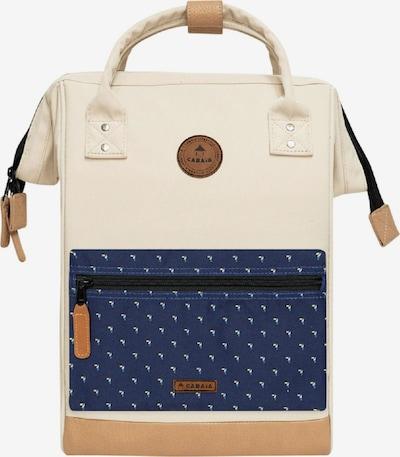 Cabaia Tagesrucksack 'Medium' in beige / dunkelblau, Produktansicht