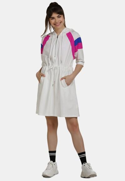 myMo ATHLSR Kleid in blau / fuchsia / weiß: Frontalansicht