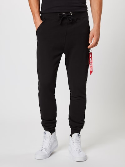 Pantaloni 'X-Fit Slim Cargo Pant' ALPHA INDUSTRIES pe negru, Vizualizare model