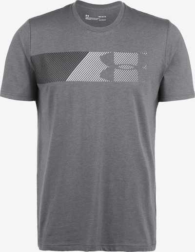 UNDER ARMOUR Functioneel shirt 'Fast Left Chest 2.0' in de kleur Grijs / Donkergrijs / Wit, Productweergave