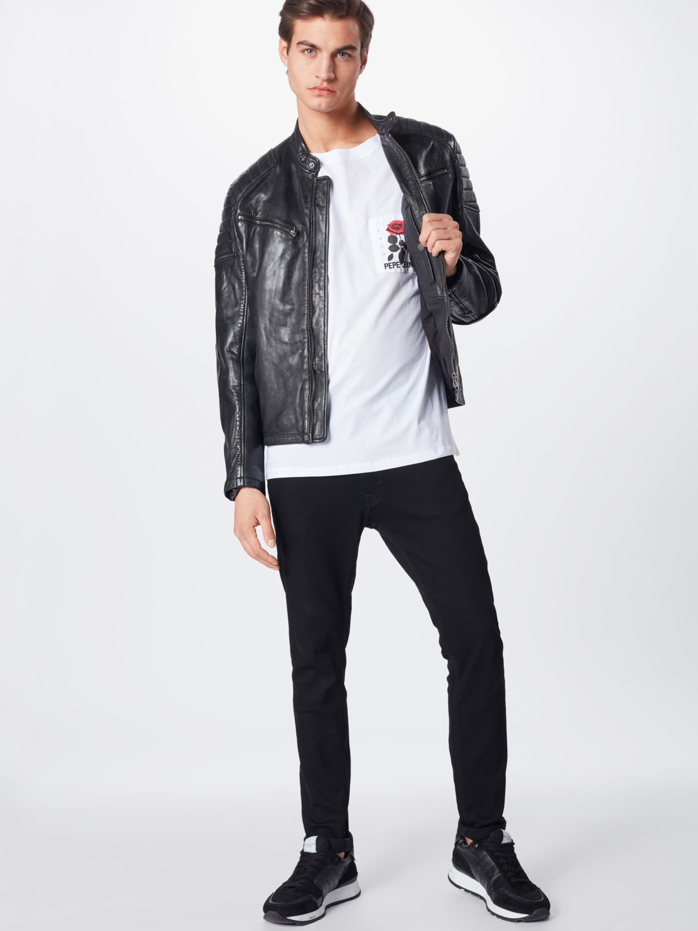 Pepe En 'kent' FoncéRouge Vert Jeans shirt Blanc T Nv80wmn