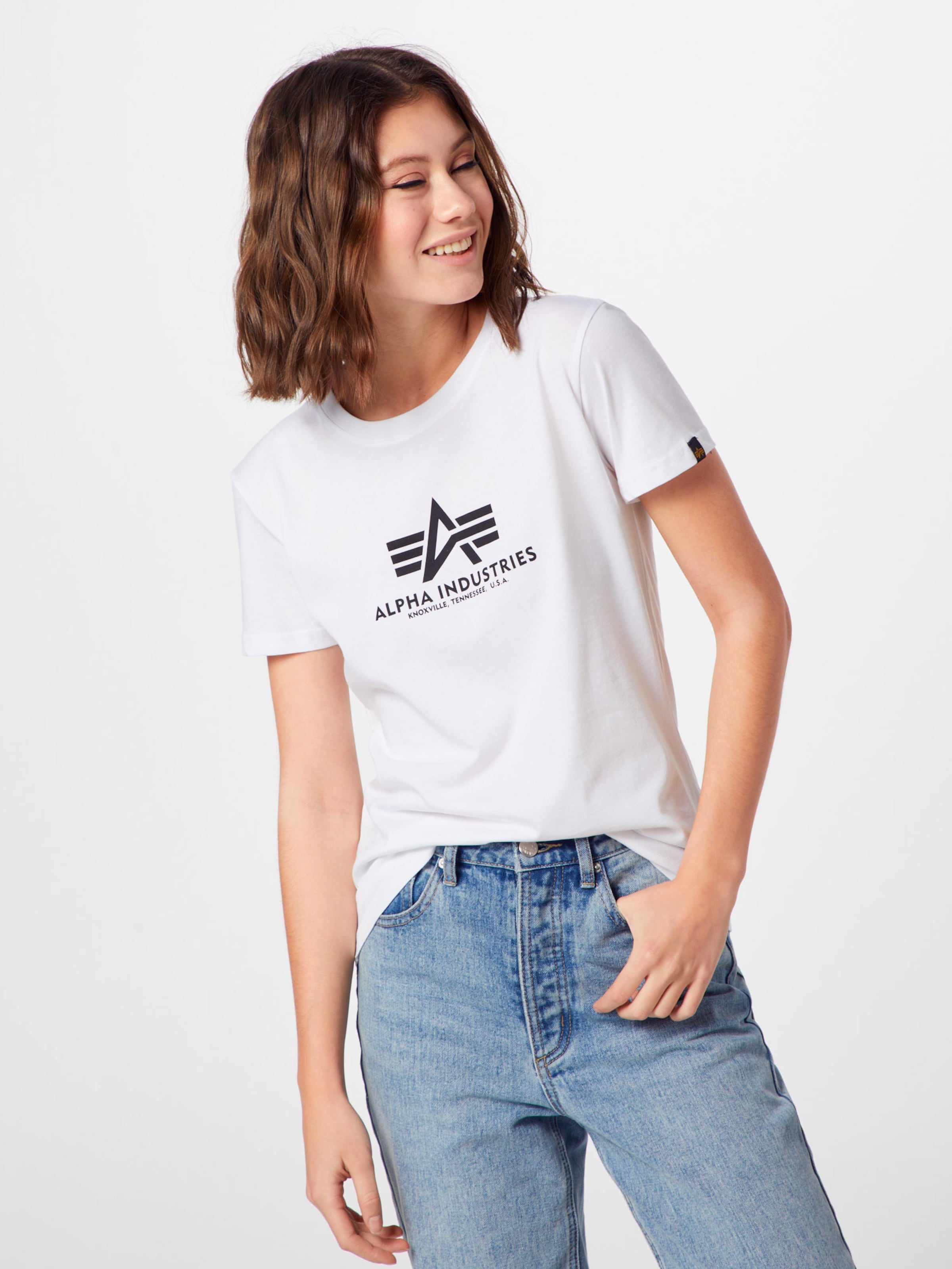 Shirt 'new Industries T Weiß In Alpha Wmn' Basic fb7gy6mYIv
