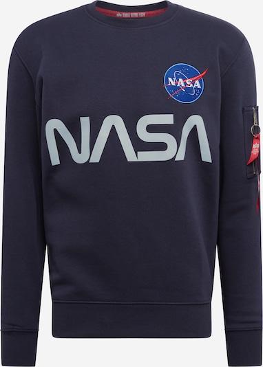 ALPHA INDUSTRIES Sweater ' Nasa Reflective ' in blau / grau / rot / weiß, Produktansicht
