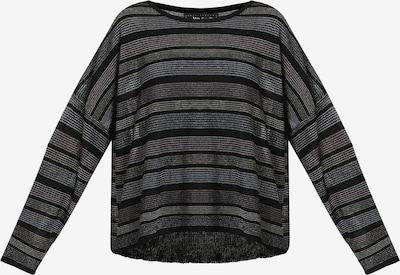 myMo at night Pullover in grau / schwarz, Produktansicht