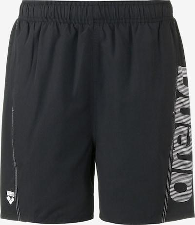 ARENA Athletic Swim Trunks 'Fundamental' in Black / White, Item view