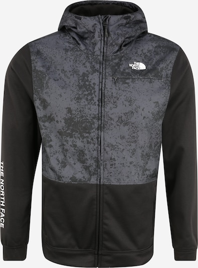 THE NORTH FACE Sport-Jacke 'M TRAIN N LOGO OVERLAY JACKET' in dunkelgrau / schwarz, Produktansicht