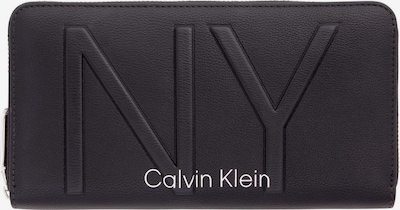 Calvin Klein Portemonnaie 'NY SHAPED ZIPAROUND LG' in schwarz, Produktansicht