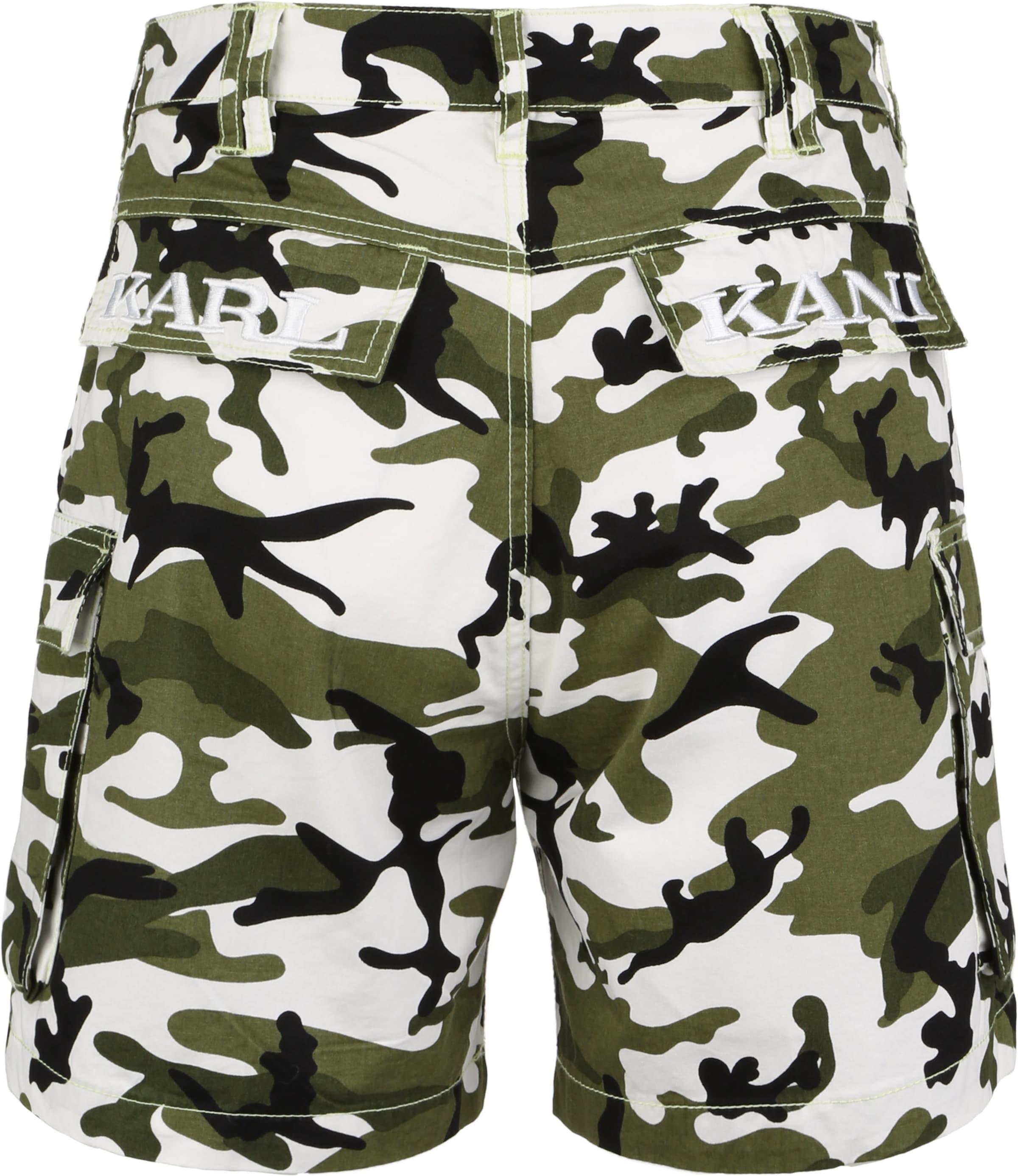 Karl Kani Shorts 'OG Cam' in grün / weiß Baumwolle KH61824010