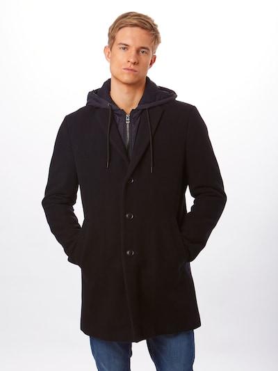 EDC BY ESPRIT Manteau mi-saison '2in1 hood coat*' en bleu marine, Vue avec modèle